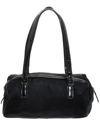 Ferragamo Nylon And Patent Leather Satchel - Black