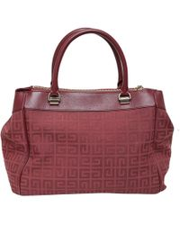 Givenchy - Red Monogram Canvas/leather Shopper Tote - Lyst
