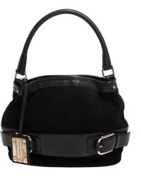 Dolce & Gabbana Black Suede And Leather Miss Loop Hobo
