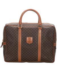 Celine Brown Macadam Canvas Business Bag