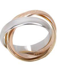 Cartier 18k Three Tone Gold Le Must De Trinity Ring Size 49 - Metallic