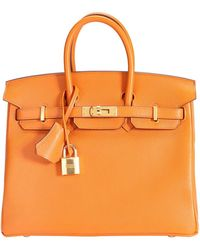 Hermès Orange Taurillon Novillo Leather Gold Hardware Birkin 25 Bag