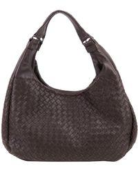 Bottega Veneta Brown Intrecciato Leather Campana Hobo Bag