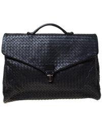 Bottega Veneta Black Leather Bag