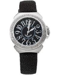 Lancaster Black Stainless Steel Stingray Leather Pillola Ref.0348l Wristwatch