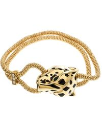 cbb34eb055e Cartier - Pre-owned Panthère Other Yellow Gold Bracelets - Lyst