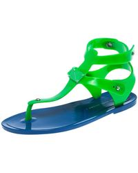 Marc By Marc Jacobs Blue/green Jelly Thong Flats Size 35