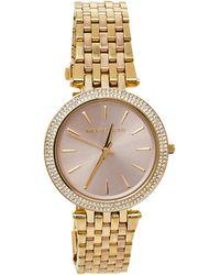 Michael Kors Pink Gold Tone Stainless Steel Darci Mk3507 Wristwatch