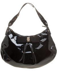 Ferragamo - Patent Leather Miss Vara Hobo - Lyst