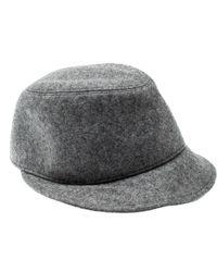 Bottega Veneta Grey Fleece Wool Fedora Cap M - Gray