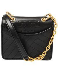 Tory Burch Black Leather Mini Alexa Crossbody Bag