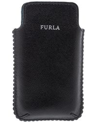 Furla Black Leather Phone Case