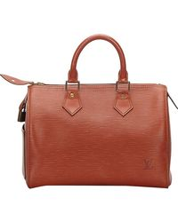 Louis Vuitton - Kenyan Fawn Epi Leather Speedy 25 Bag - Lyst