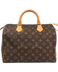 Louis Vuitton Monogram Canvas Speedy 30 City Handbag - Brown