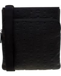 MCM - Black Visetos Leather Ottamar Messenger Bag - Lyst