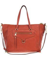Louis Vuitton - Orange Leather Handbag - Lyst