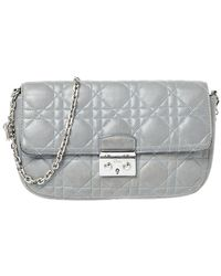 Dior Gray Quilted Leather Miss Promenade Chain Bag