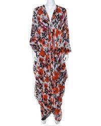 Roberto Cavalli Printed Silk Dress - Red