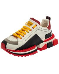 Dolce & Gabbana Multicolour Leather/suede Super King Sneakers