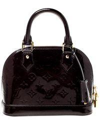 Louis Vuitton Amarante Monogram Vernis Alma Bb Bag - Black