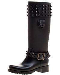 Philipp Plein - Rubber Kingdom Studded Rain Boots - Lyst