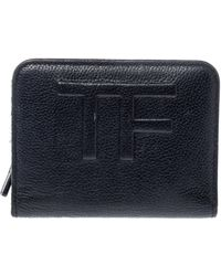 Tom Ford Black Leather Compact Wallet