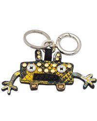 Burberry Bright Toffee Snakeskin Embossed Leather Monster Bag Charm/keyring - Yellow