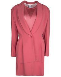 Hervé Léger Vintage Pink Mesh Top Skirt And Blazer Set Xl