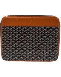 Goyard Brown Ine Coated Canvas And Leather Document Case