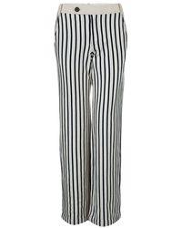 Derek Lam - 10 Crosby Striped Cotton Trousers - Lyst
