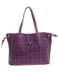 MCM - Visetos Leather Project Reversible Shopper Tote - Lyst