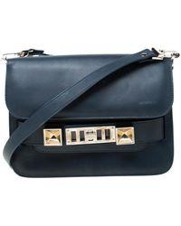 Proenza Schouler Ps11 Blue Leather Handbag