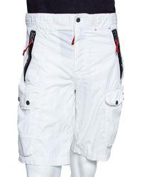 Ralph Lauren Rlx White Cotton Blend Cargo Shorts