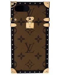 Louis Vuitton Monogram Reverse Canvas Eye Trunk Iphone 7+ Case - Brown
