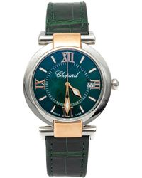 Chopard Green Imperiale Stainless Steel & Rose Gold Women's Watch 36mm