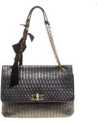 Lanvin Happy Gray Leather Handbag