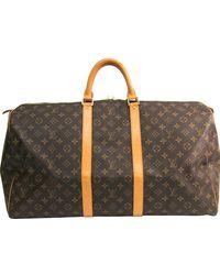 Louis Vuitton Monogram Canvas Keepall Bandouliere 55 - Brown