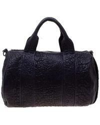 Alexander Wang Purple Pebbled Leather Rocco Duffel Bag