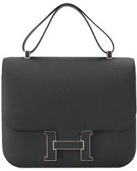 Hermès Hermès Black Sombrero Leather Constance Cartable 29 Bag