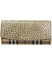 Burberry - Horseferry Check Canvas/leather Porter Continental Wallet - Lyst