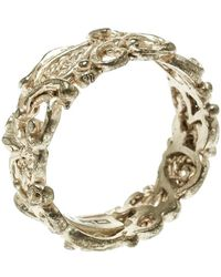Etro - Open-work Gold Tone Band Ring Size 55 - Lyst
