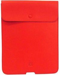 Loewe Orange Nappa Leather Ipad Case