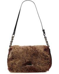 Dior - Bicolor Fur/canvas Malice Shoulder Bag - Lyst