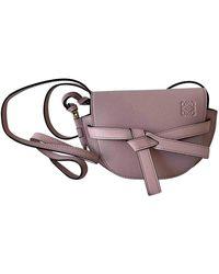 Loewe Pink Calfskin Leather Gate Small Bag