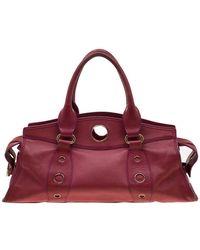 Celine Red Leather Satchel