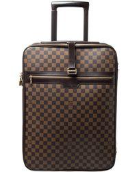 Louis Vuitton Damier Ebene Canvas Pegase 55 Lugagge - Brown