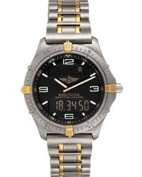 Breitling Grey Titanium Aerospace Advantage Perpetual F65062 Wristwatch 40 Mm