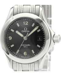 Omega Black Stainless Steel Seamaster 120m 2581.53 Women's Wristwatch 26mm