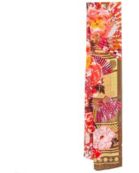 KENZO Multicolour Floral Printed Silk Scarf