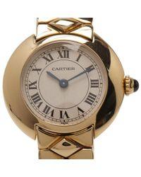 Cartier - Off-white 18k Yellow Gold Classic Women's Wristwatch 25mm - Lyst